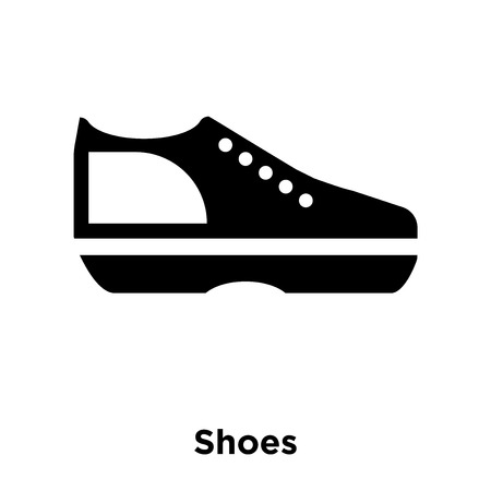 Shoes icon vector isolated on white background, logo concept of Shoes sign on transparent background, filled black symbol