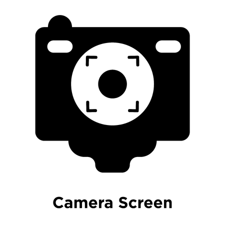Camera Screen icon vector isolated on white background, logo concept of Camera Screen sign on transparent background, filled black symbol