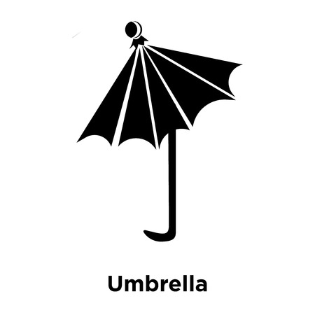 Umbrella icon vector isolated on white background, logo concept of Umbrella sign on transparent background, filled black symbol