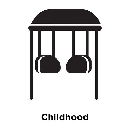 Childhood icon vector isolated on white background, logo concept of Childhood sign on transparent background, filled black symbol