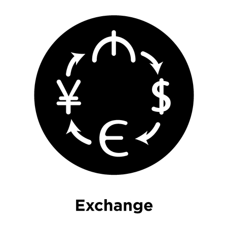 Exchange icon vector isolated on white background, logo concept of Exchange sign on transparent background, filled black symbol