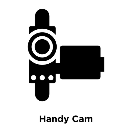 Handy Cam icon vector isolated on white background, logo concept of Handy Cam sign on transparent background, filled black symbol