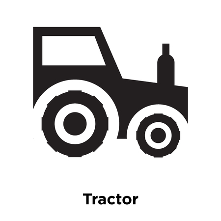 Tractor icon vector isolated on white background, logo concept of Tractor sign on transparent background, filled black symbol Vettoriali