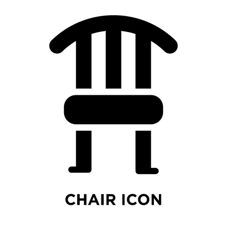 Chair icon vector isolated on white background, logo concept of Chair sign on transparent background, filled black symbol