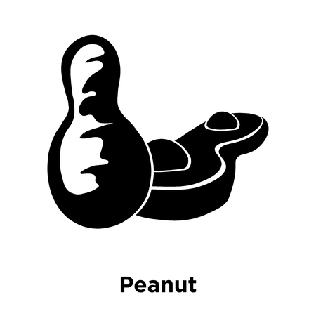 Peanut icon vector isolated on white background, logo concept of Peanut sign on transparent background, filled black symbol