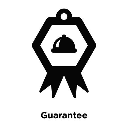 Guarantee icon vector isolated on white background, logo concept of Guarantee sign on transparent background, filled black symbol Illustration