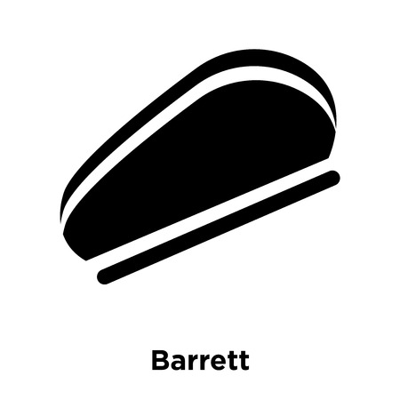 Barrett icon vector isolated on white background, logo concept of Barrett sign on transparent background, filled black symbol