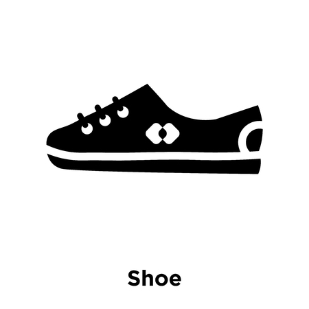 Shoe icon vector isolated on white background, logo concept of Shoe sign on transparent background, filled black symbol