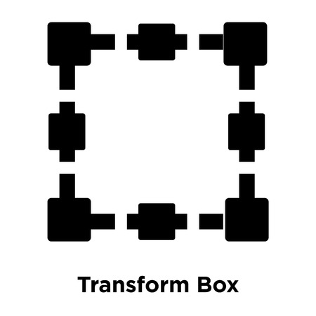 Transform Box icon vector isolated on white background, logo concept of Transform Box sign on transparent background, filled black symbol Logo