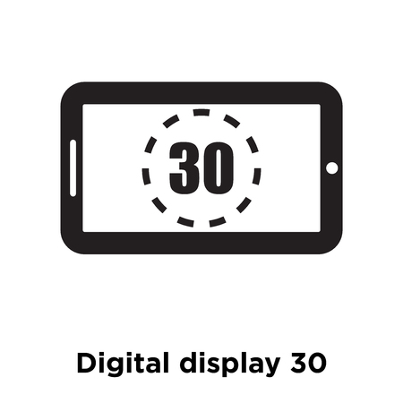 Digital display 30 icon vector isolated on white background, logo concept of Digital display 30 sign on transparent background, filled black symbol 写真素材 - 107954169