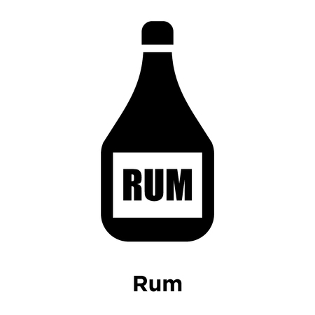 Rum icon vector isolated on white background, logo concept of Rum sign on transparent background, filled black symbol