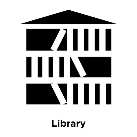 Library icon vector isolated on white background, logo concept of Library sign on transparent background, filled black symbol Illustration