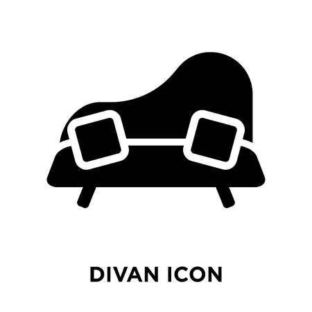 Divan icon vector isolated on white background, logo concept of Divan sign on transparent background, filled black symbol Archivio Fotografico - 107954350