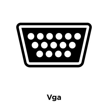 Vga icon vector isolated on white background, logo concept of Vga sign on transparent background, filled black symbol Logo