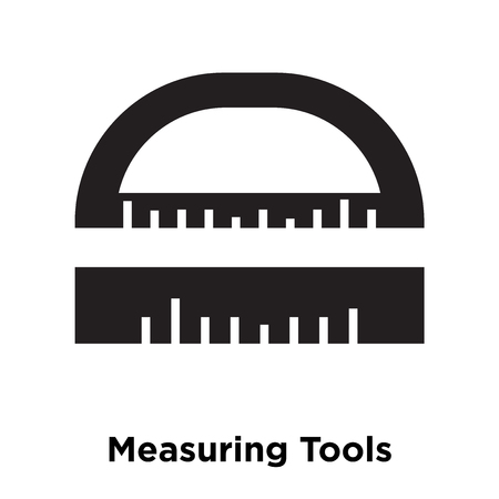 Measuring Tools icon vector isolated on white background, logo concept of Measuring Tools sign on transparent background, filled black symbol Ilustracja
