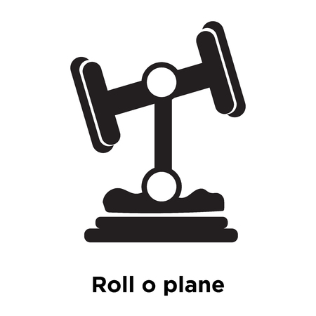 Roll o plane icon vector isolated on white background, logo concept of Roll o plane sign on transparent background, filled black symbol