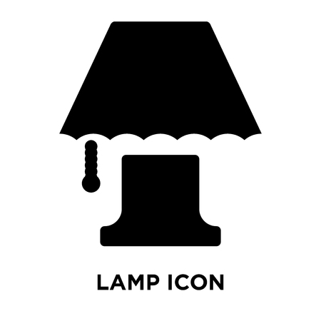 Lamp icon vector isolated on white background, logo concept of Lamp sign on transparent background, filled black symbol