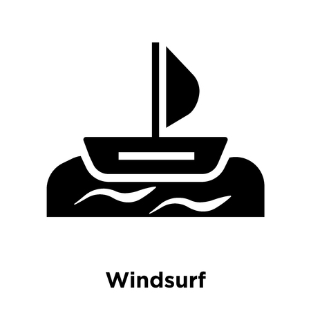 Windsurf icon vector isolated on white background, logo concept of Windsurf sign on transparent background, filled black symbol