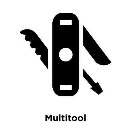 Multitool icon vector isolated on white background, logo concept of Multitool sign on transparent background, filled black symbol Illustration