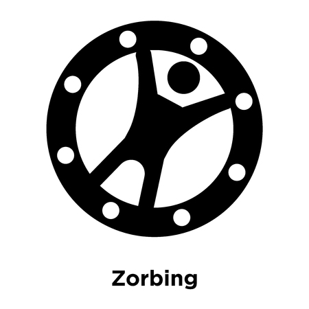 Zorbing icon vector isolated on white background, logo concept of Zorbing sign on transparent background, filled black symbol Illustration