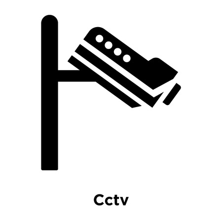 Cctv icon vector isolated on white background, logo concept of Cctv sign on transparent background, filled black symbol