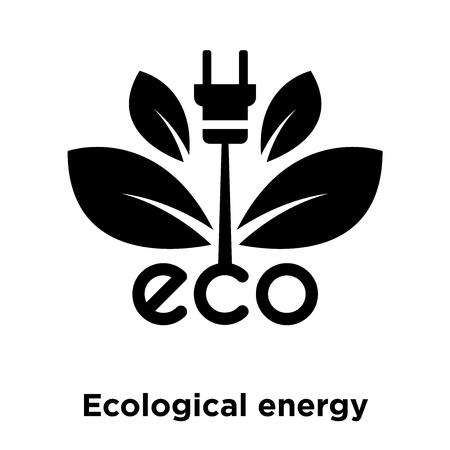 Vector de icono de fuente de energía ecológica aislado sobre fondo blanco, el concepto de logo de fuente de energía ecológica muestra sobre fondo transparente, símbolo negro relleno