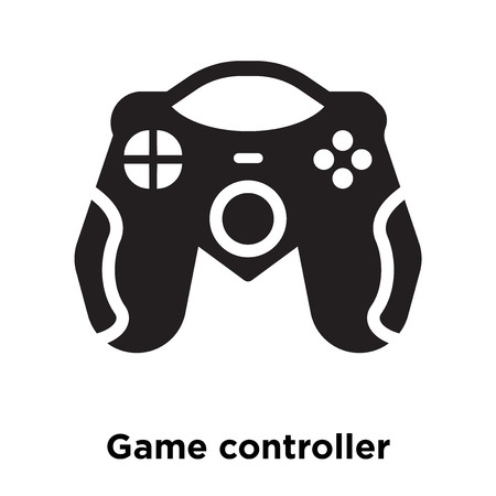 Game controller icon vector isolated on white background, logo concept of Game controller sign on transparent background, filled black symbol 일러스트
