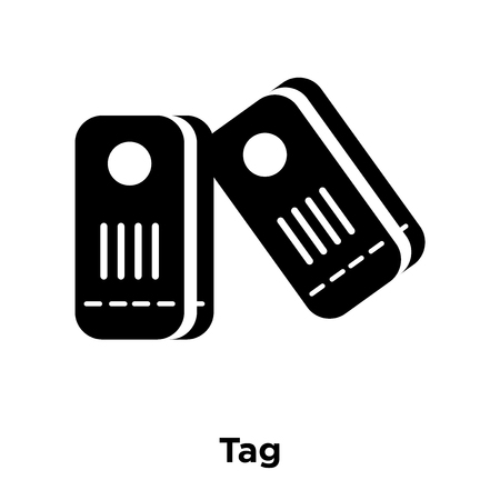 Tag icon vector isolated on white background, logo concept of Tag sign on transparent background, filled black symbol