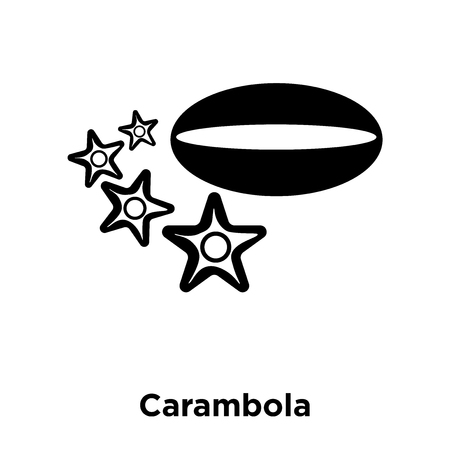 Carambola icon vector isolated on white background, logo concept of Carambola sign on transparent background, filled black symbol