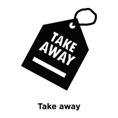 Vecteur d'icône à emporter isolé sur fond blanc, notion de logo de signe à emporter sur fond transparent, rempli de symbole en noir Logo