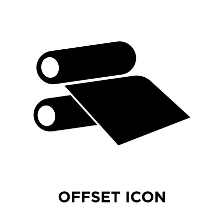 Offset icon vector isolated on white background, logo concept of Offset sign on transparent background, filled black symbol