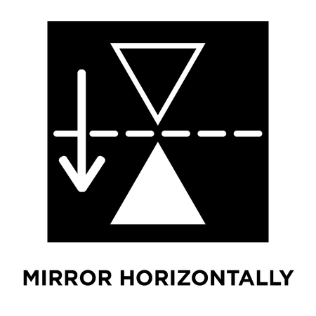 Mirror horizontally icon vector isolated on white background, logo concept of Mirror horizontally sign on transparent background, filled black symbol Illustration