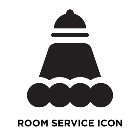 Room Service icon vector isolated on white background, logo concept of Room Service sign on transparent background, filled black symbol Stock Vector - 107939132