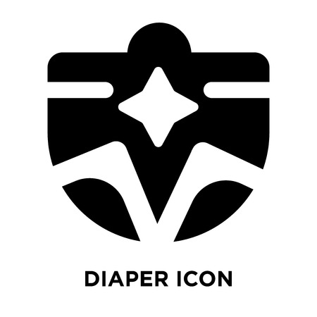 Diaper icon vector isolated on white background, logo concept of Diaper sign on transparent background, filled black symbol