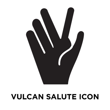 Vulcan salute icon vector isolated on white background, logo concept of Vulcan salute sign on transparent background, filled black symbol