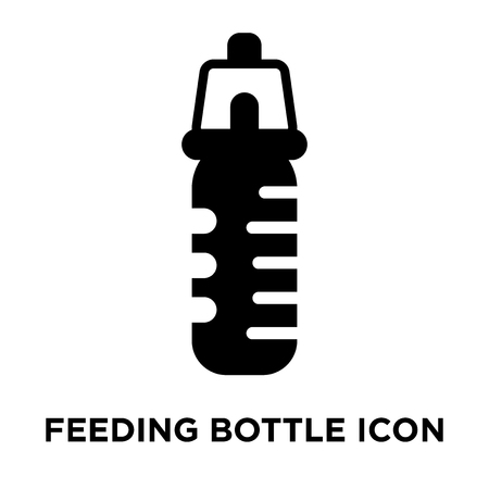 Feeding Bottle icon vector isolated on white background, logo concept of Feeding Bottle sign on transparent background, filled black symbol