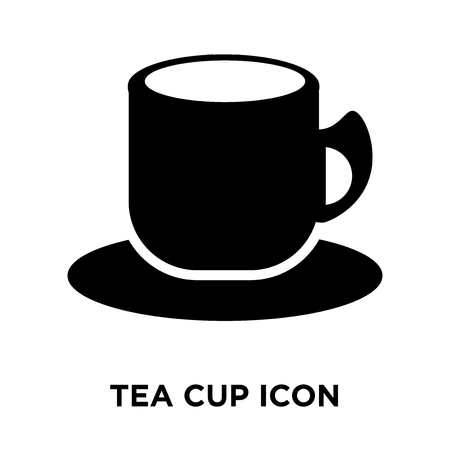 Tea cup icon vector isolated on white background, logo concept of Tea cup sign on transparent background, filled black symbol Standard-Bild - 108108711