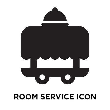Room service icon vector isolated on white background, logo concept of Room service sign on transparent background, filled black symbol