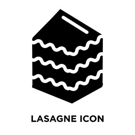 Lasagne icon vector isolated on white background, logo concept of Lasagne sign on transparent background, filled black symbol