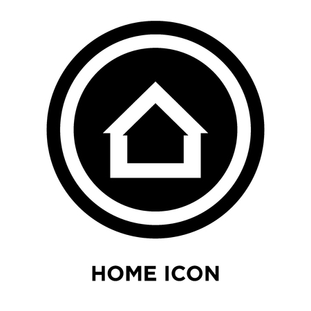 Home icon vector isolated on white background, logo concept of Home sign on transparent background, filled black symbol Ilustrace