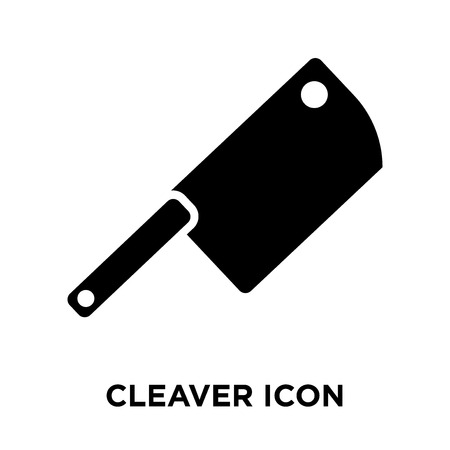 Cleaver icon vector isolated on white background, logo concept of Cleaver sign on transparent background, filled black symbol Standard-Bild - 108154415
