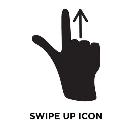 Swipe Up icon vector isolated on white background, logo concept of Swipe Up sign on transparent background, filled black symbol