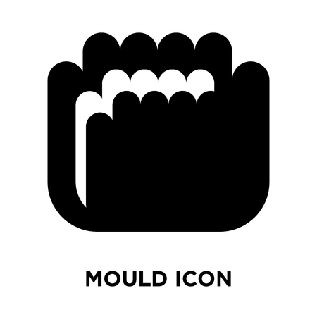 Mould icon vector isolated on white background, logo concept of Mould sign on transparent background, filled black symbol Stock Vector - 108132554