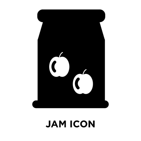 Jam icon vector isolated on white background, logo concept of Jam sign on transparent background, filled black symbol Illustration