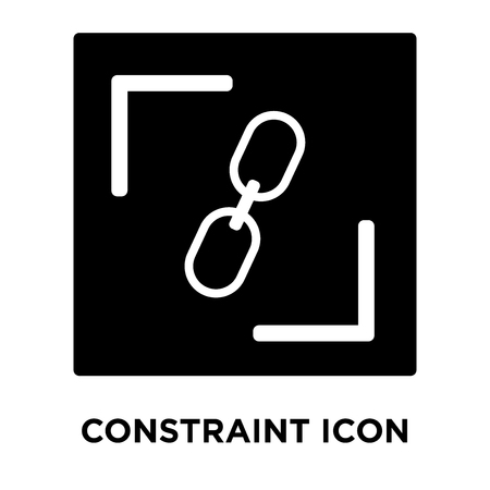 Constraint icon vector isolated on white background, logo concept of Constraint sign on transparent background, filled black symbol