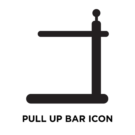Pull up bar icon vector isolated on white background, logo concept of Pull up bar sign on transparent background, filled black symbol Illustration