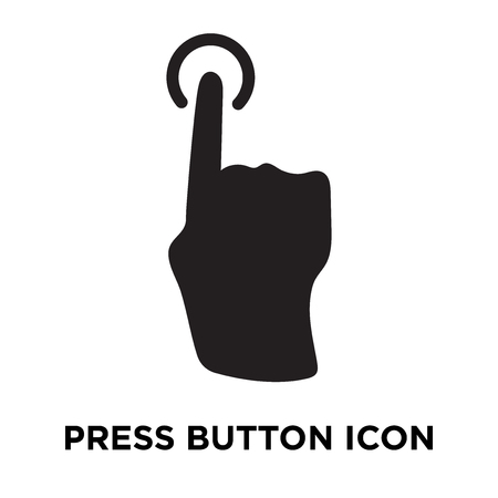Press Button icon vector isolated on white background, logo concept of Press Button sign on transparent background, filled black symbol 向量圖像