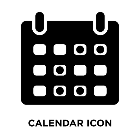 Calendar icon vector isolated on white background, logo concept of Calendar sign on transparent background, filled black symbol