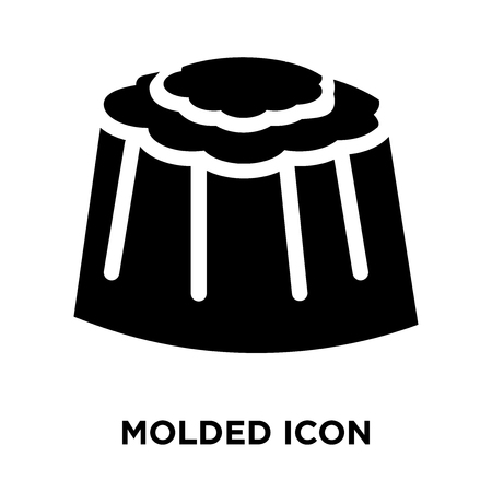 Molded icon vector isolated on white background, logo concept of Molded sign on transparent background, filled black symbol Illustration