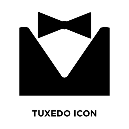 Tuxedo icon vector isolated on white background, logo concept of Tuxedo sign on transparent background, filled black symbol